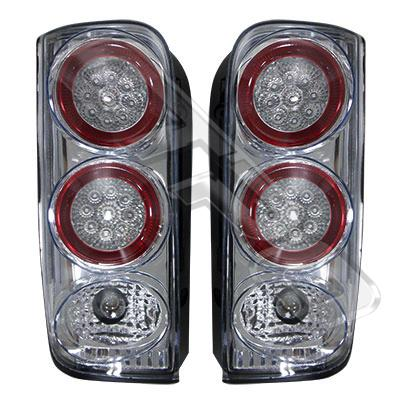 8192098-76PG-REAR LAMP - SET - L&R - CLEAR STYLE - W/LED - TOYOTA HIACE 1990-
