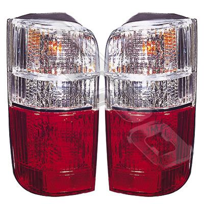 8192098-81PG-REAR LAMP - SET - L&R - CLEAR/RED - TOYOTA HIACE 1990-