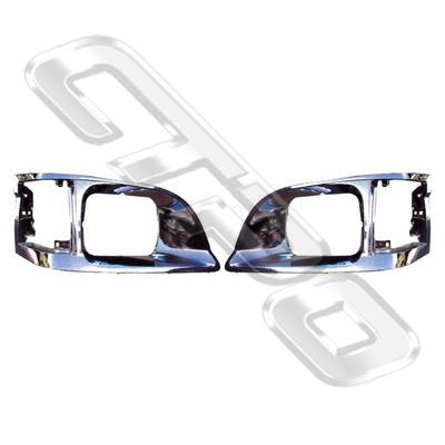 BEZEL SET - L&R - ALL CHROME - PERFORMANCE TYPE - TO SUIT TOYOTA HIACE 1999- NZ TYPE