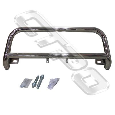 8194190-72-FRONT NUDGE BAR - POLISHED - TOYOTA HIACE 2004-17  WIDE