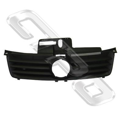 GRILLE - BLACK - TO SUIT VW POLO MK5 2002-