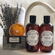 Load image into Gallery viewer, Gift Set Organic Lotion & Liquid Castile Soap