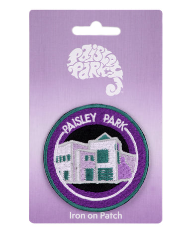 Paisley Park Building Round Iron-On Patch