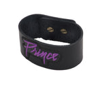 Prince Embroidered Leather Cuff Bracelet