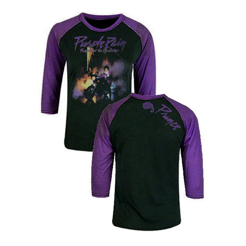 Paisley Park - Apparel - Purple Rain Raglan T-shirt