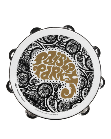 "Prince ""Paisley Park"" Black, White, and Gold Concert Tambourine"