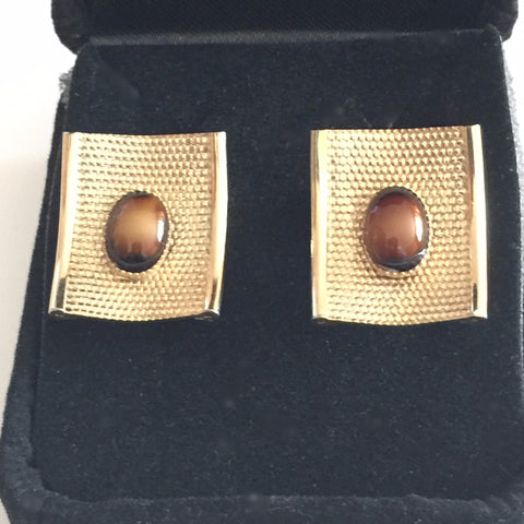 Vintage Cufflinks, Tiger's Eye