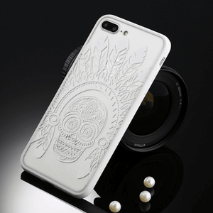 etui-iphone: White Skull Plume