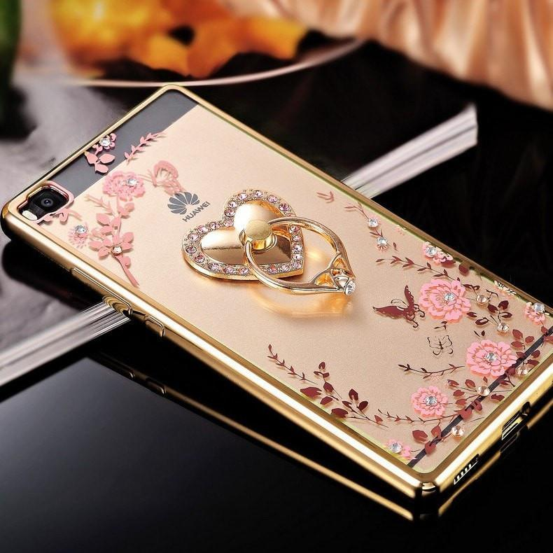 Fashion Smart Mobile Phone For Case - Glamour Gold Ring