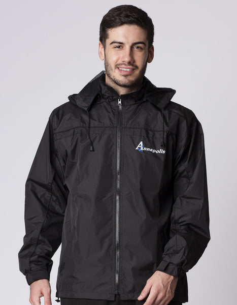 ADULTS FULLZIP DETACHABLE HOOD WINDBREAKER JACKET