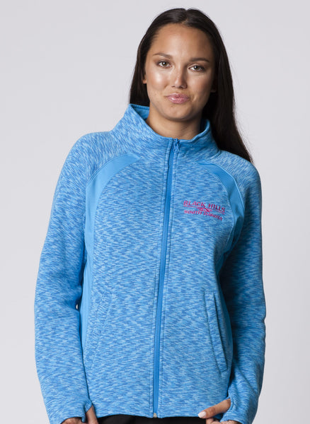 LADIES RAGLAN SPACEDYE FULLZIP JACKET