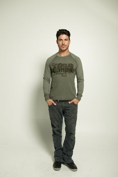 MENS GARMENT-DYED THERMAL COMBO LONG SLEEVE