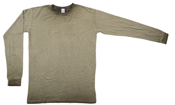 MENS DIRTY WASH CREWNECK LONG SLEEVE SHIRT