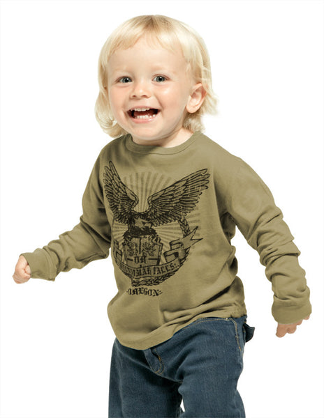 TODDLER GARMENT-DYED CREWNECK LONG SLEEVE SHIRT
