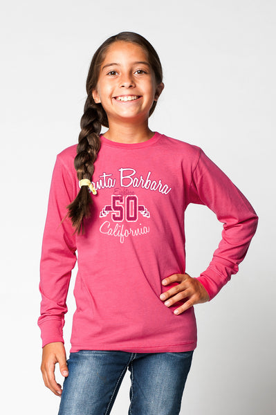 KIDS GARMENT-DYED CREWNECK LONG SLEEVE SHIRT