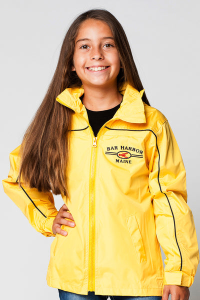 KIDS FULLZIP DETACHABLE HOOD WINDBREAKER JACKET