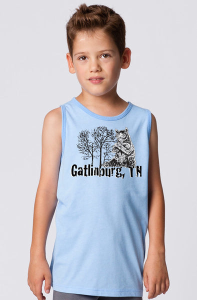 BOYS GARMENT-DYED HEATHER TANK TOP
