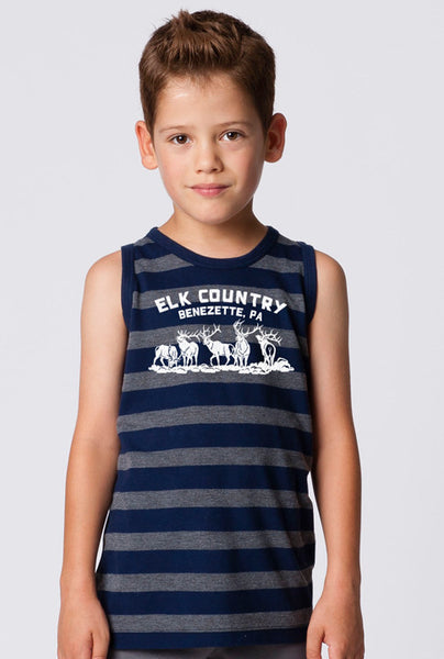 BOYS GARMENT-DYED STRIPE TANK TOP