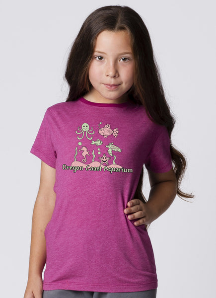 GIRLS GARMENT DYED SHORT SLEEVE RINGER T-SHIRT