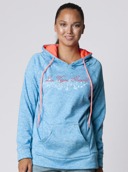 LADIES RAGLAN MELANGE SWEAT PULLOVER HOODED