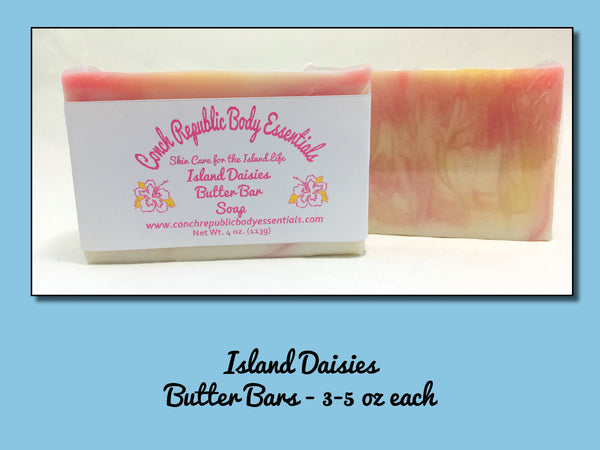Island Daisies Butter Bar Soap