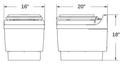 Dry Flush Toilet Dimensions
