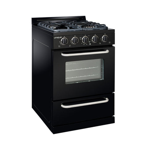 Unique Classic 24 Inch Off-Grid Gas Oven Range Combo