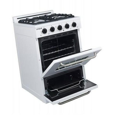 Image of Unique Classic 24 Inch Off-Grid Gas Oven Range Combo