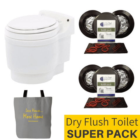 Laveo Dry Flush Toilet Super Pack