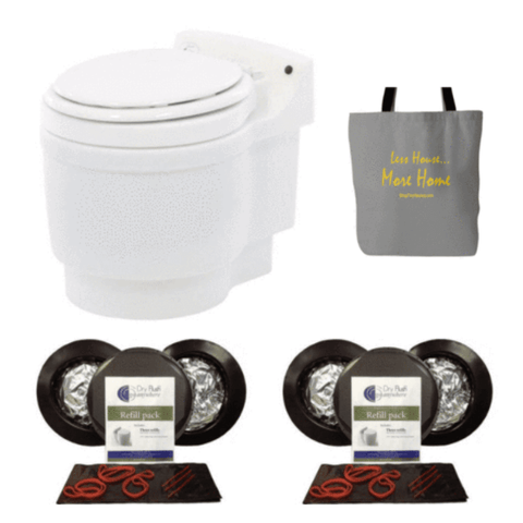 Image of Laveo Dry Flush Toilet Super Pack