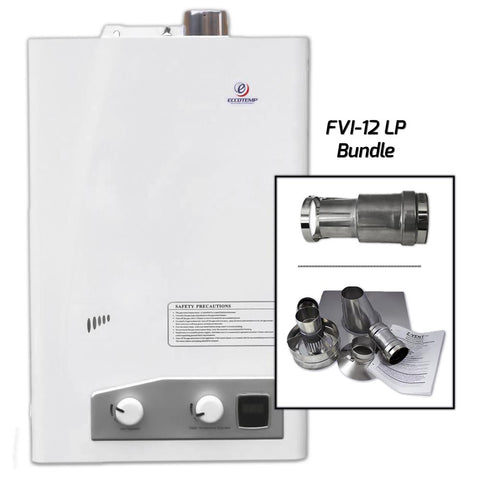 Eccotemp FVI12-LP  Indoor Water Heater Vertical Bundle