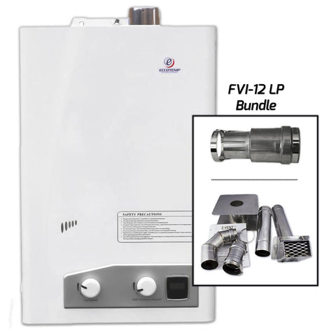 Eccotemp FVI12-LP  Indoor Water Heater Horizontal Bundle