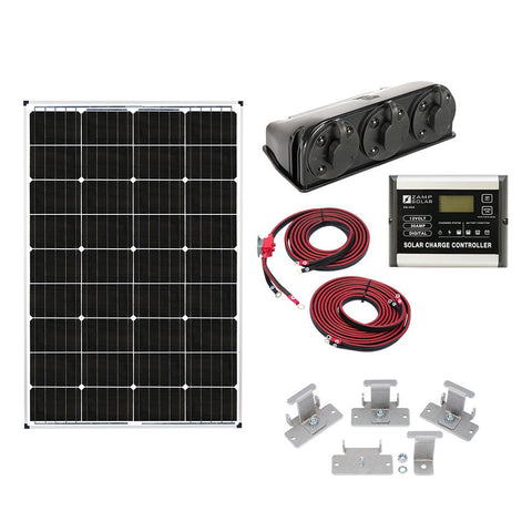 Image of Zamp 115-Watt Deluxe Solar Kit