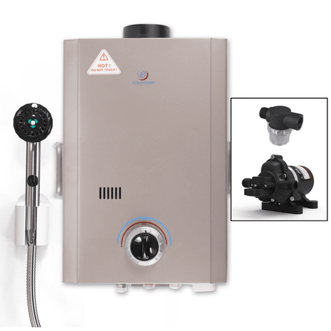 Eccotemp L7 Portable Outdoor Tankless Water Heater with EccoFlo Pump & Strainer