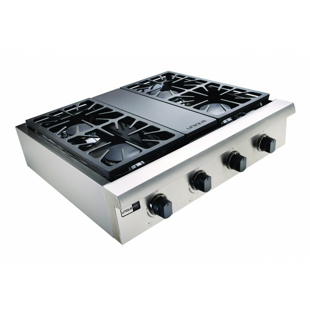 "Unique Elite 30"" 4 Burner Stainless Steel Gas Rangetop"