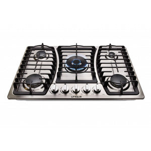 Unique Stainless Steel 36 Inch 5 Burner Gas Cooktop