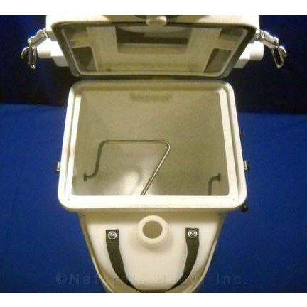 Image of Nature's Head Dry Composting Toilet Top Open View