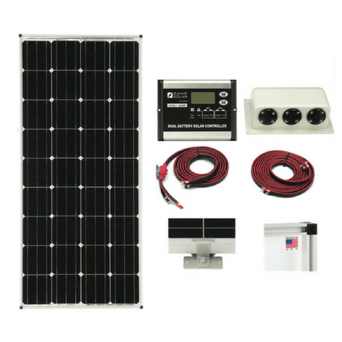 Image of Zamp 170-Watt Deluxe Solar Kit