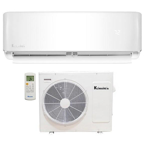 Klimaire 9000 BTU 22.5 SEER Ductless Mini Split Full Kit