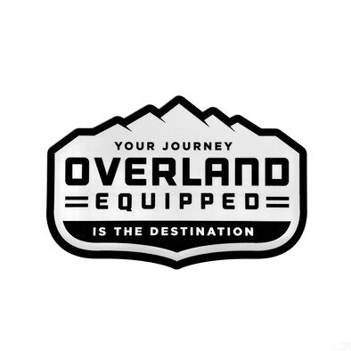 Overland Equipped decal window white