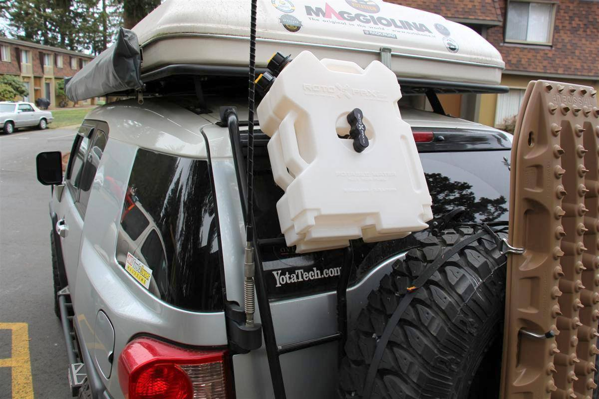Heavy Duty Rotopax Backing Plate With Mounting Hardware Overland Equipped