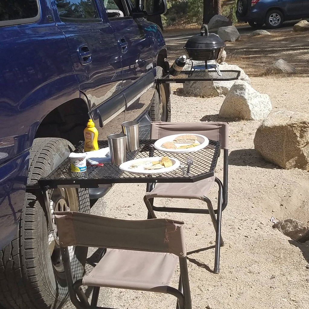 Tailgater Tire Table Portable Tailgating and Camp Table