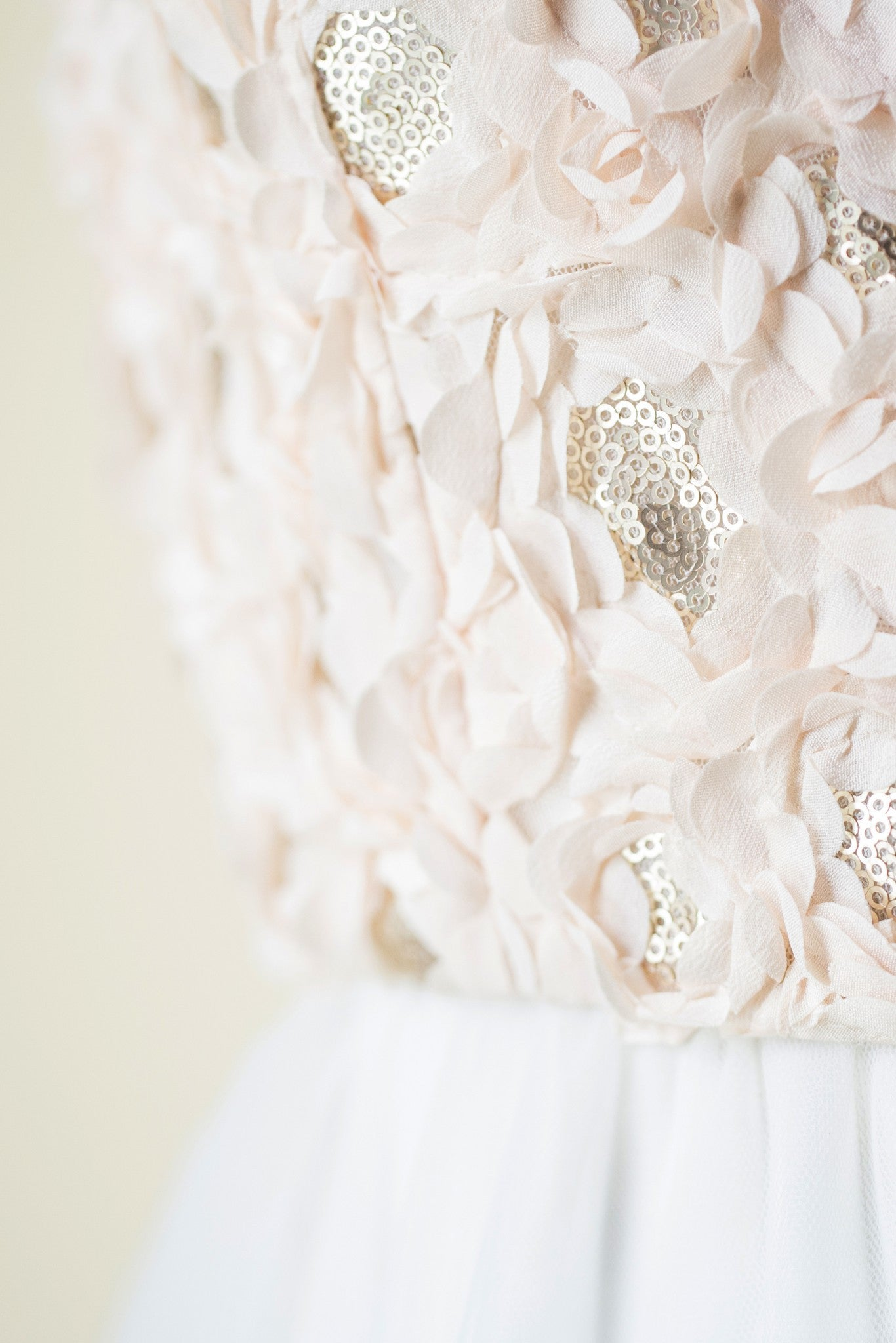 Detail: Fair Trade, Eco, Indie & Ethical handmade wedding dress with pink wedding gown color & natural waist & open back