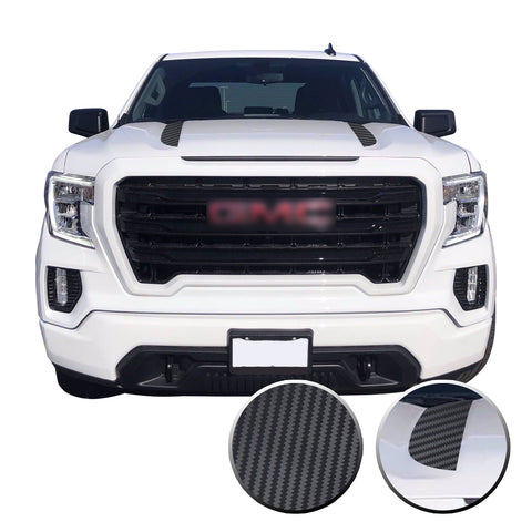 Hood Spear Stripes Trim Vinyl Decal Compatible with GMC Sierra 2020 - 2021