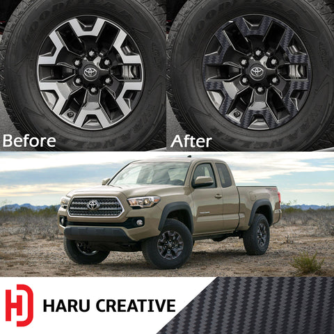 Wheel Rim Overlay Vinyl Decal Compatible with and Fits Toyota Tacoma TRD Off Road 2016-2018