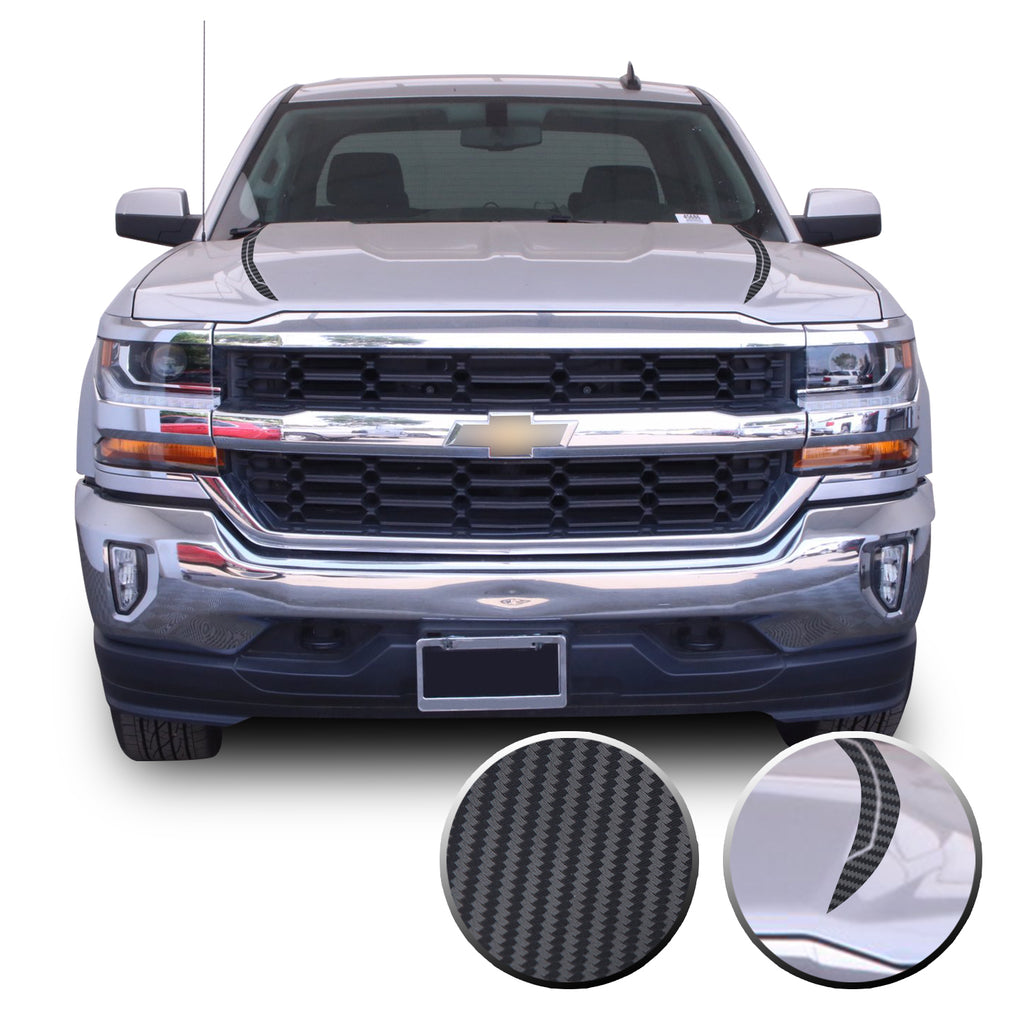 2016-2018 Chevy Silverado Hood Spears Stripes Line Cut