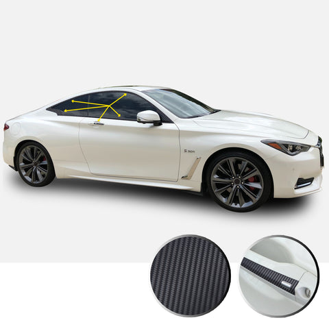 Infiniti Q60 Coupe Window Chrome Delete 2017-2019 - Black