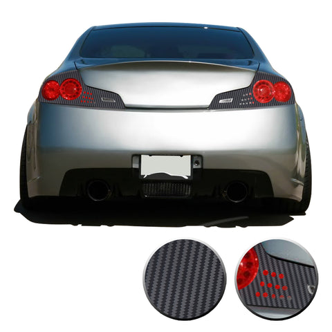 Tail Light GTR Style Blackout Precut Vinyl Overlay Compatible with Infiniti G35 Coupe 2006 2007