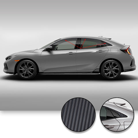 Civic Hatchback Window Chrome Delete 2017-2019 - Black