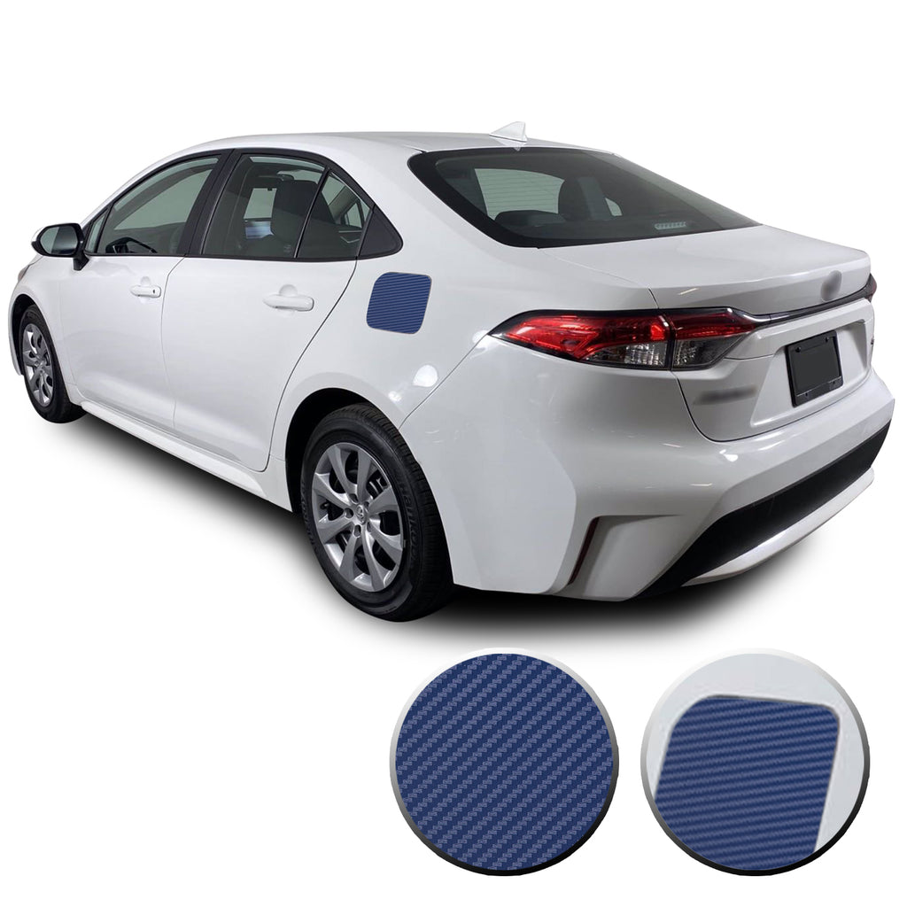 Fuel Tank Cap Gas Box Overlay Decal Precut Trim Compatible with and Fits Corolla Toyota 2020